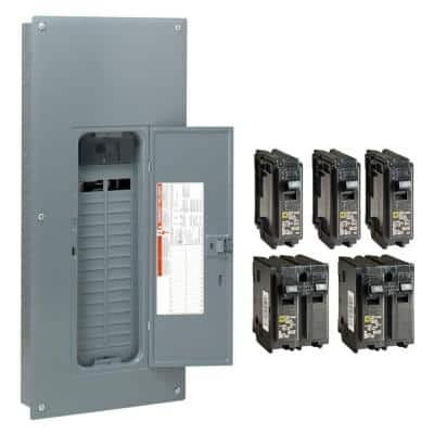 Homeline 150 Amp 30-Space 60-Circuit Indoor Main Breaker Plug-On Neutral Load Center with Cover - Value Pack