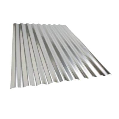 Project Panel Corrugated 3 ft. Galvanized Steel Roof Panel