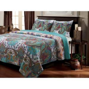 Nirvana 3-Piece Multicolored King Quilt Set