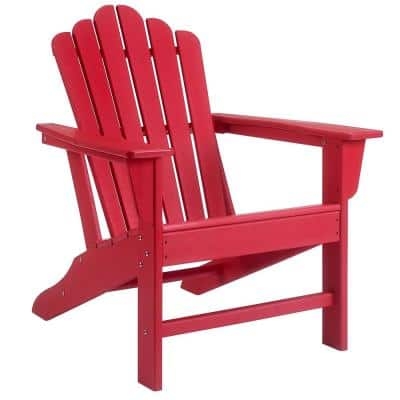 HDPE Plastic Outdoor Patio Reclining Adirondack Chair