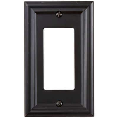 Continental 1 Gang Rocker Metal Wall Plate - Oil-Rubbed Bronze