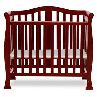 Naples 4-in-1 Cherry Convertible Mini Crib