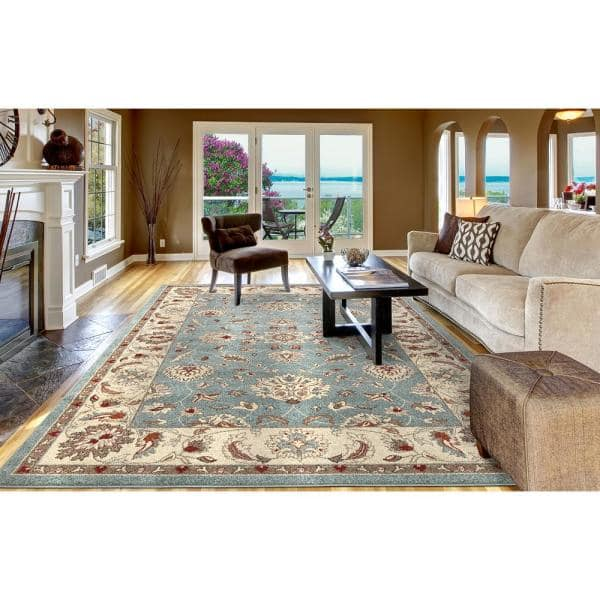 Concord Global Trading Chester Oushak Blue 7 Ft X 9 Ft Area Rug 97066 The Home Depot