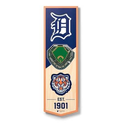 MLB Detroit Tigers 6 in. x 19 in. 3D Stadium Banner-Comerica Park