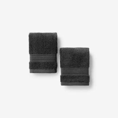 Company Cotton Charcoal Solid Turkish Cotton Wash Cloth (Set of 2)