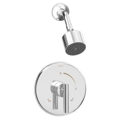 Dia Single Handle 1-Spray Shower Trim in Polished Chrome - 1.5 GPM (Valve not Included)