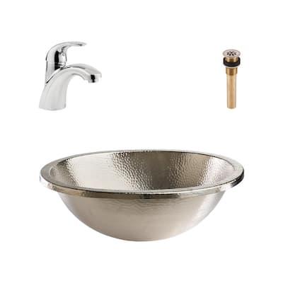 Metal Undermount Bathroom Sinks Bathroom Sinks The Home Depot