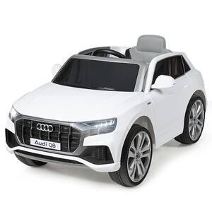 12-Volt Licensed AudiQ8 Kids Ride On Car with 2.4G Remote Control MP3 LED Lights White