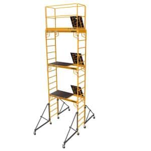 Safeclimb Baker Style 18 ft. x 2.5 ft. x 6.1 ft. Steel Scaffold Tower with 1000 lbs. Load Capacity