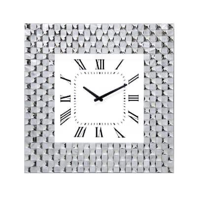Dunia Silver Wall Clock