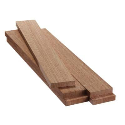 1 in. x 4 in. x 2 ft. FAS Mahogany S4S Board (5-Pack)