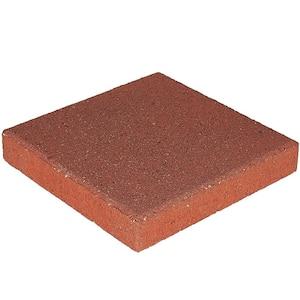 12 in. x 12 in. x 1.5 in. River Red Square Concrete Step Stone