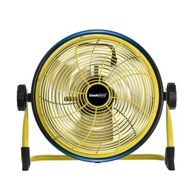 Cordless 16 in. Variable Speed Floor Fan with Power Bank Feature