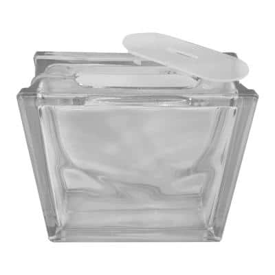 7.5 in. x 7.5 in. x 3.125 in. Wave Pattern Glass Block for Arts and Crafts (5-Pack)