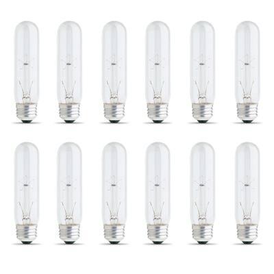 25-Watt Soft White (2700K) T10 Dimmable E26 Base Incandescent Light Bulb (12-Pack)