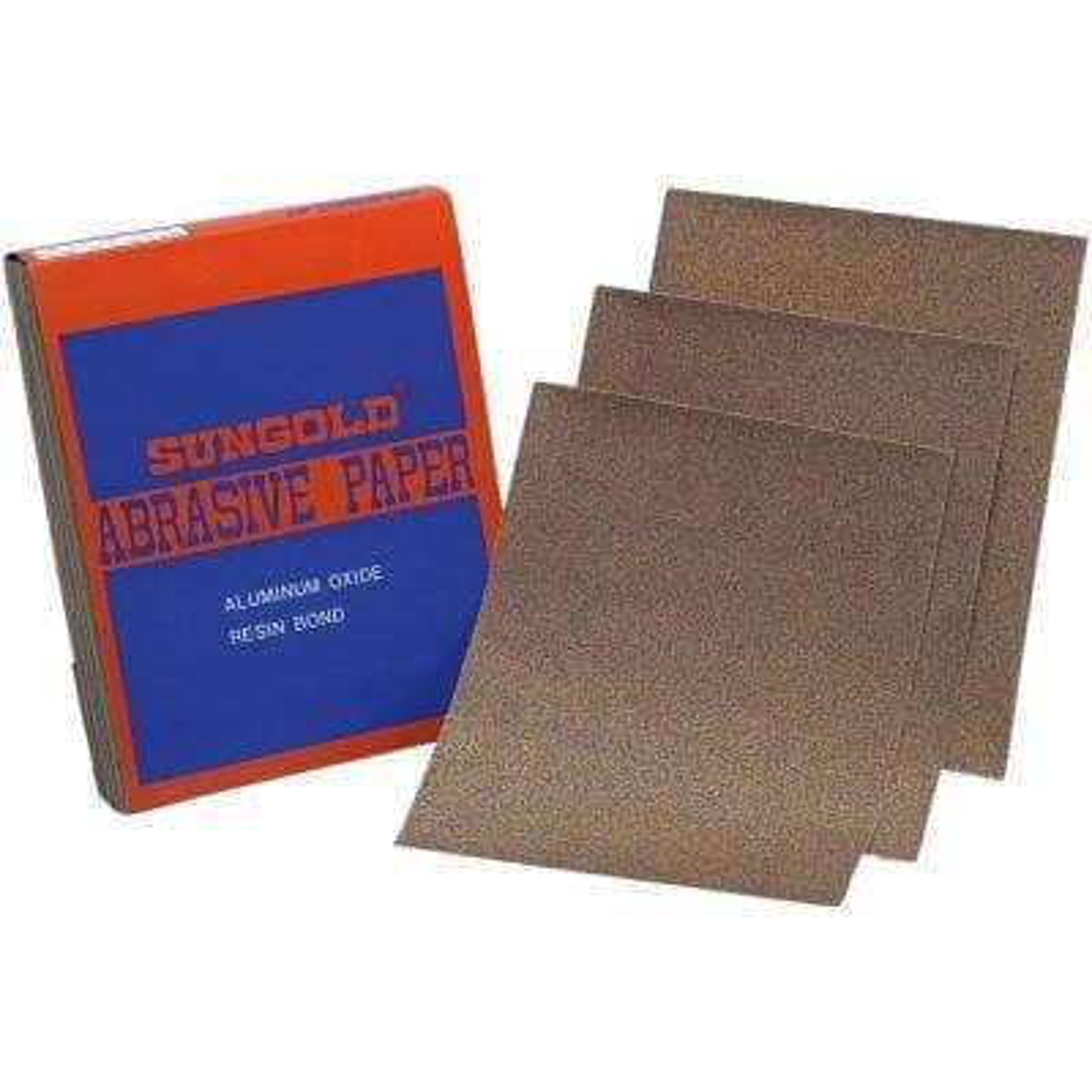 9 in. W x 11 in. L 120-Grit Medium Aluminum Oxide Sanding Sheet Sandpaper (100-Pack)