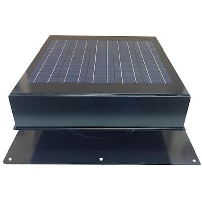 20-Watt 1280 CFM Black Solar Powered Attic Fan