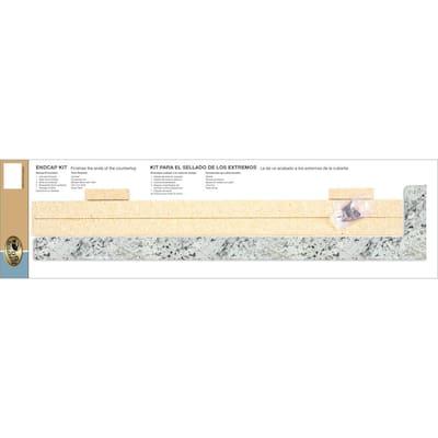 4-5/8 in. x 25-3/4 in. Laminate Endcap Kit in White Ice Granite with Eased Edge