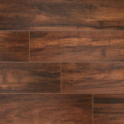 Botanica Teak 6 in. x 36 in. Matte Porcelain Floor and Wall Tile (12 sq. ft./Case)