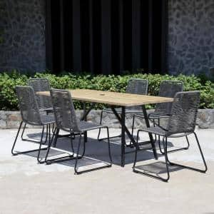 Linden Hills 7-Piece Steel Rope Outdoor Dining Set