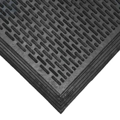 Dura-Scraper Linear 60 in. x 36 in. Black Rubber Door Mat
