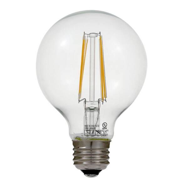 Euri Lighting 60w Equivalent Warm White 2700k G25 Dimmable Clear Led Light Bulb Vg25 2000e The Home Depot