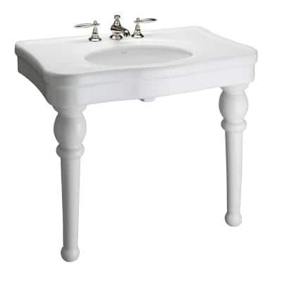 Versailles 36 in. Console Table in White