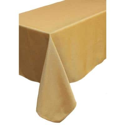 Gala Glistening Collection Easy Care Solid Color Tablecloth, 60 by 60 in. Gold