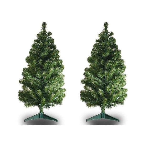 3pc Multi Lighted Twig Tree Pathway Lights Markers Outdoor Christmas Yard Decor