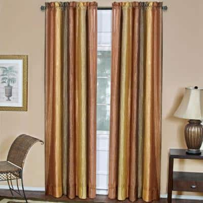 Ombre 50 in. W x 84 in. L Polyester Light Filtering Window Panel in Autumn