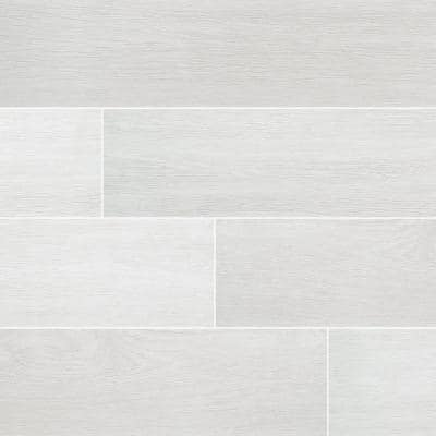 Woodcrest Blanco 6 in. x 36 in. Matte Porcelain Floor and Wall Tile (13.5 sq. ft./Case)
