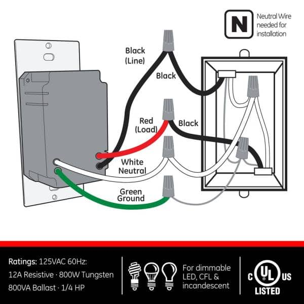 GE Motion-Sensing Switch with Automatic Shut-Off Feature, White-11927 - The  Home Depot | Ge Sensor Wiring Diagram |  | The Home Depot