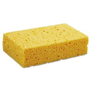 Medium Cellulose Sponge, 3 2/3 x 6 2/25 in., 1.55 in. Thick, Yellow, 24/Carton