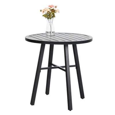 Black Metal Outdoor Bistro Coffee Table