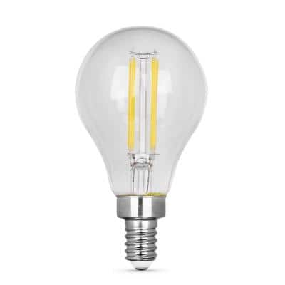 60- -Watt Equivalent A15 Intermediate Dimmable CEC Clear Finish LED Ceiling Fan Light Bulb, Daylight 5000K (2-Pack)