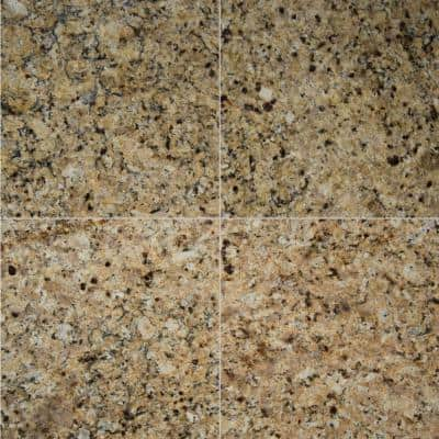 St. Helena Gold 12 in. x 12 in. Polished Granite Floor and Wall Tile (10 sq. ft. / case)