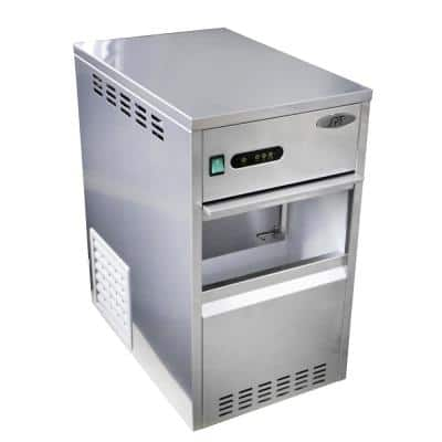 66 lb. Flake Freestanding Ice Maker in Stainless Steel