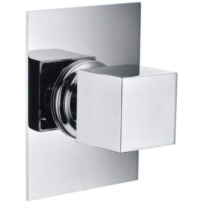 Single-Handle Shower Diverter with Sleek Modern Design in Polished Chrome