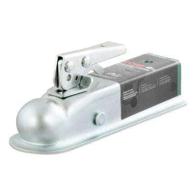 """2"""" Straight-Tongue Coupler with Posi-Lock (2"""" Channel, 3,500 lbs., Zinc)"""