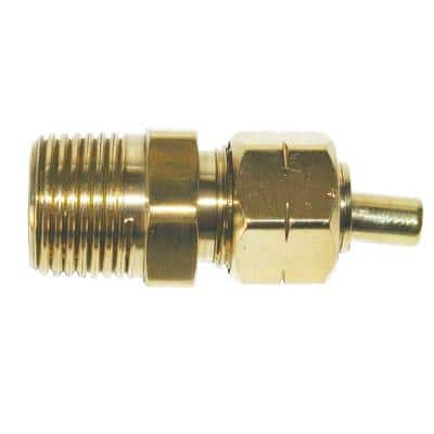 3/8 in. OD Compression x 3/8 in. MIP Brass Adapter Fitting