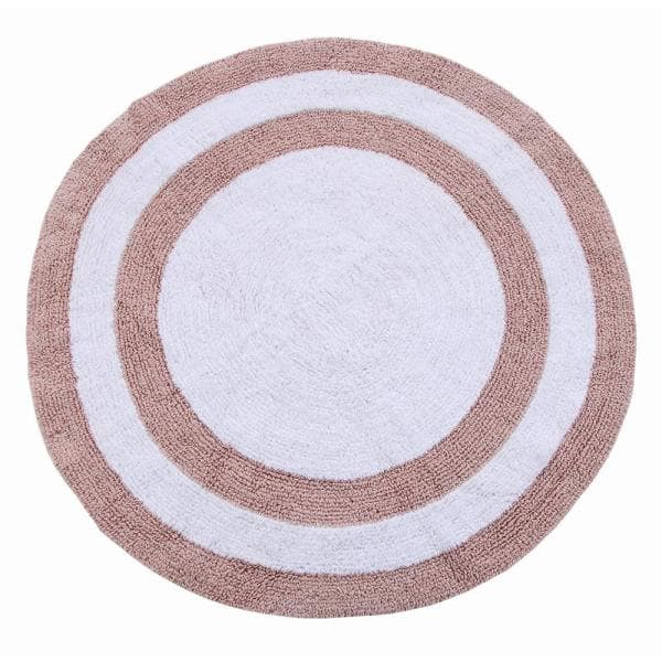 Saffron Fabs Two Tone 36 In Round, Circle Bathroom Rugs