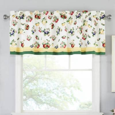 Villeroy and Boch French Garden 60 in. L x 15 in. W Multi-Color Window Valance