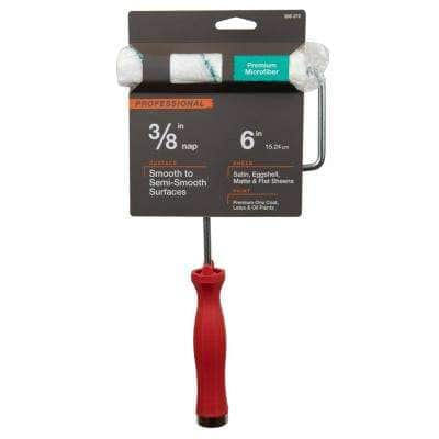 6 in. x 3/8 in. Microfiber Mini Paint Roller with Frame