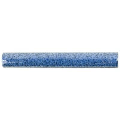 Angela Harris Blue 1 in. x 8 in. Polished Ceramic Wall Pencil Liner Tile