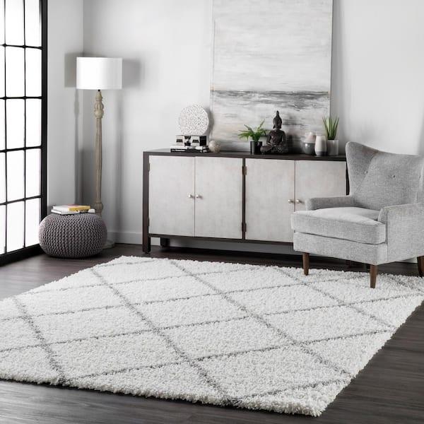 Nuloom Shanna Easy White 4 Ft X 6, White Living Room Rug