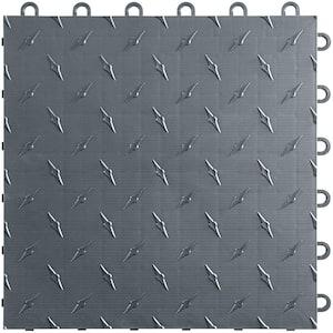 12 in x 12 in. Slate Grey Diamondtrax Home Modular Polypropylene Flooring 50-Tile Pack (50 sq. ft.)