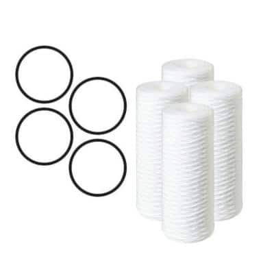 10 in. 5 Micron Sediment Replacement Filter (4-Pack)