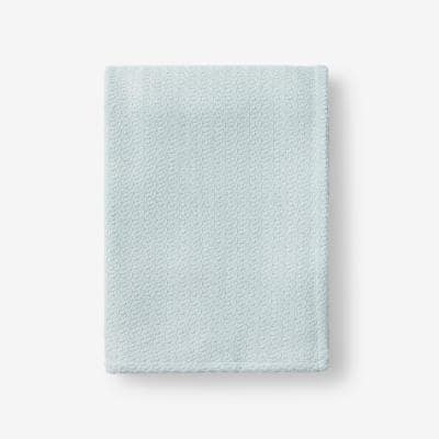 Organic Cotton Pale Blue Solid Woven Throw Blanket