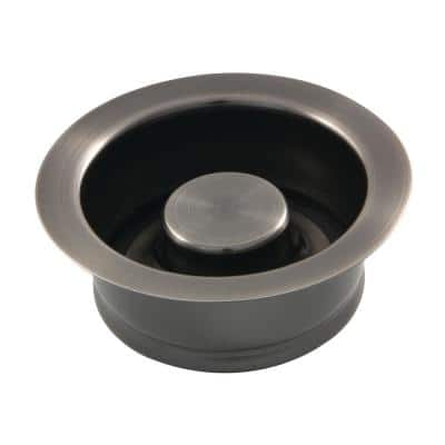 4-1/2 in. D Brass Garbage Disposal Flange and Stopper in Black Stainless