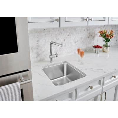Linus Single-Handle Pull-Out Sprayer Kitchen Faucet in Polished Chrome